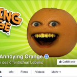 Annoying Orange bei Facebook
