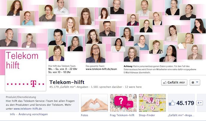Telekom hilft - fb Seite